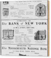 Mutual Funds, 1901 Wood Print
