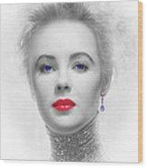 My Beautiful Elizabeth Taylor No 2 Wood Print