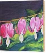 My Bleeding Hearts Wood Print
