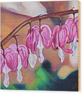 My Bleeding Hearts Out On A Limb Wood Print
