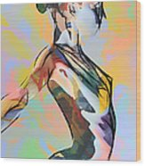 My Colorful Ballerina  Wood Print