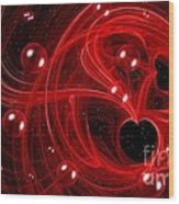 My Cosmic Valentine Wood Print by Peggy Hughes