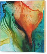 My Cup Runneth Over - Abstract Art By Sharon Cummings Wood Print