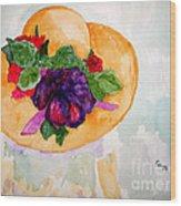 My Easter Bonnet Long Ago Wood Print