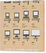 My Evolution Apple Mac Minimal Poster Wood Print