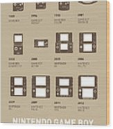 My Evolution Nintendo Game Boy Minimal Poster Wood Print