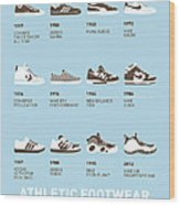 My Evolution Sneaker Minimal Poster Wood Print by Chungkong Art