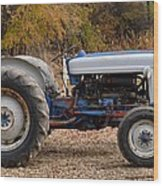 My Faithful Tractor Wood Print