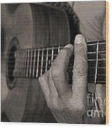My Father's Hands By Diana Sainz Wood Print