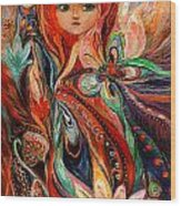 My Fiery Fairy Gwendolyn Wood Print