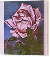 My First Rose Wood Print