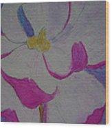 My Flower Wood Print by Yvette Pichette