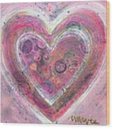 My Glittering Heart Wood Print