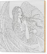 My Guardian Angel Wood Print