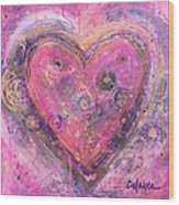 My Heart Of Circles Wood Print