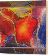 My Heart On My Sleeve An Abstract Painting Wood Print