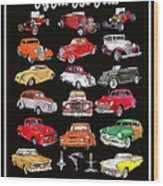 Hot Rod Ford Poster Wood Print