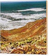 My Impression Of California Coastline Wood Print