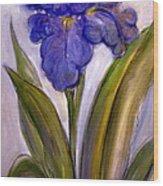 My Iris Wood Print