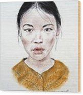 My Kuiama A Young Vietnamese Girl  Wood Print by Jim Fitzpatrick