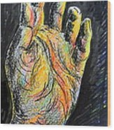 My Left Hand 3 Wood Print