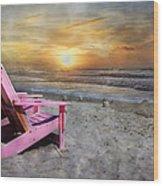 My Life As A Beach Chair Wood Print
