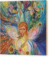 My Little Fairy Caren Wood Print