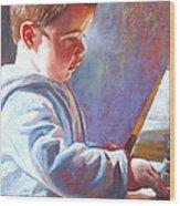 My Little Mozart Wood Print by Lynda Robinson