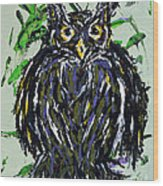 My Little Owl Wood Print