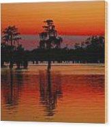 My Louisiana Heart Wood Print