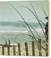 My Love The Sea Wood Print