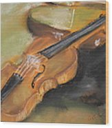 My Lttle Violin Wood Print