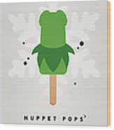 My Muppet Ice Pop - Kermit Wood Print