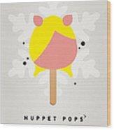 My Muppet Ice Pop - Miss Piggy Wood Print by Chungkong Art
