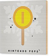 My Nintendo Ice Pop - Gold Coin Wood Print