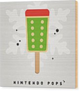 My Nintendo Ice Pop - King Bowser Wood Print