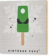 My Nintendo Ice Pop - Luigi Wood Print