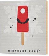 My Nintendo Ice Pop - Mario Wood Print