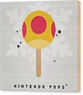My Nintendo Ice Pop - Mega Mushroom Wood Print by Chungkong Art