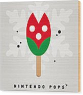 My Nintendo Ice Pop - Piranha Plant Wood Print