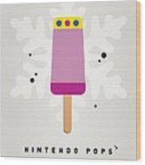 My Nintendo Ice Pop - Princess Peach Wood Print by Chungkong Art