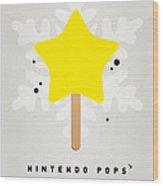 My Nintendo Ice Pop - Super Star Wood Print