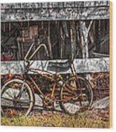 My Old Bike Wood Print