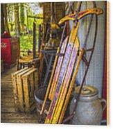 My Old Sled Wood Print