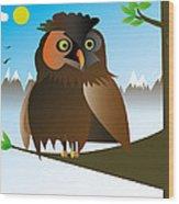 My Owl Wood Print by Kenneth Feliciano