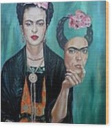 My Own Frida Wood Print