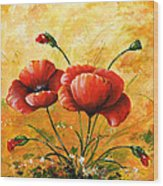 My Poppies 047 Wood Print