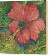 My Quiet Place-hibuscus Flower Wood Print