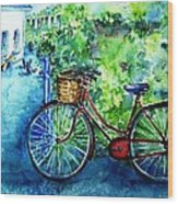 My Red Bike  Wood Print