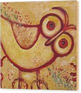 My Red Primitive Owl Wood Print